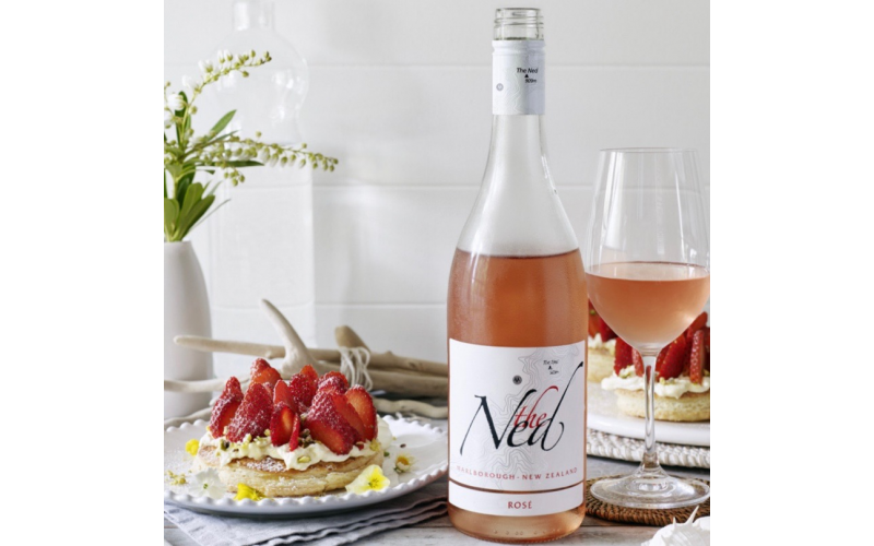 Two cases of The Ned Rosé