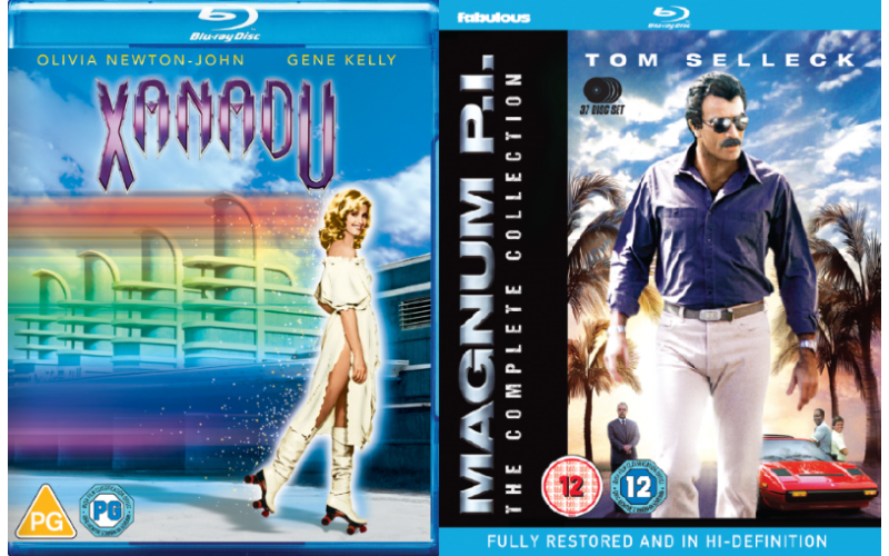 Signed Copy of Xanadu on Blu-ray, and Magnum PI Complete Collection on Blu-ray.