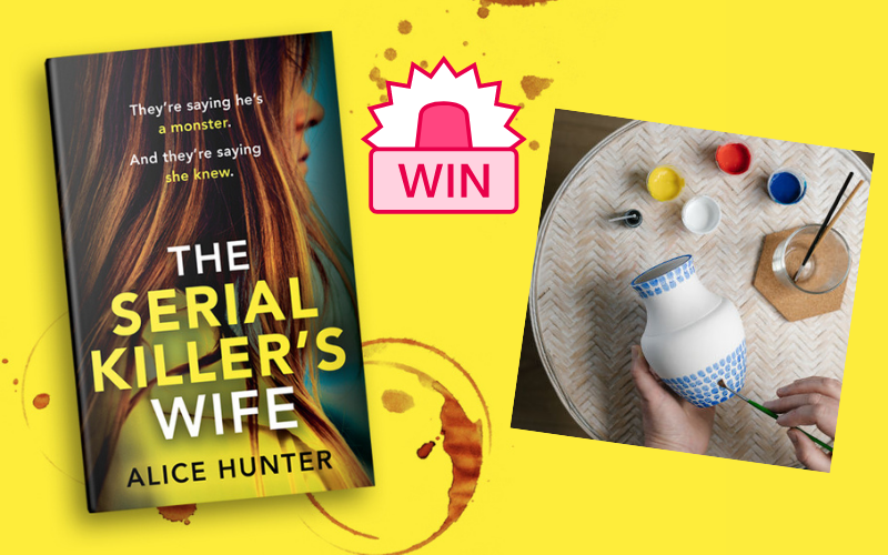 Win a copy of The Serial Killer's Wife and a Paint Your Own Ceramic Vase Set for you and a friend!