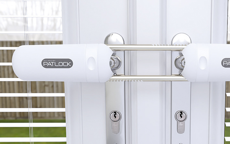 A Patlock fitted French door lock