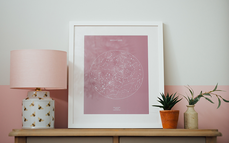 A framed personalised print
