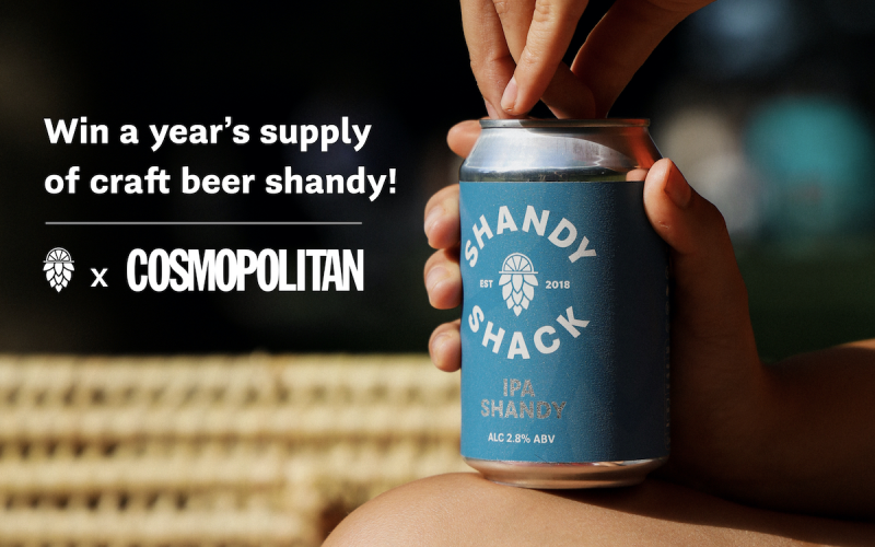 A year's supply of Shandy Shack IPA Shandy/Elderflower Lager Top, t-shirt and cap