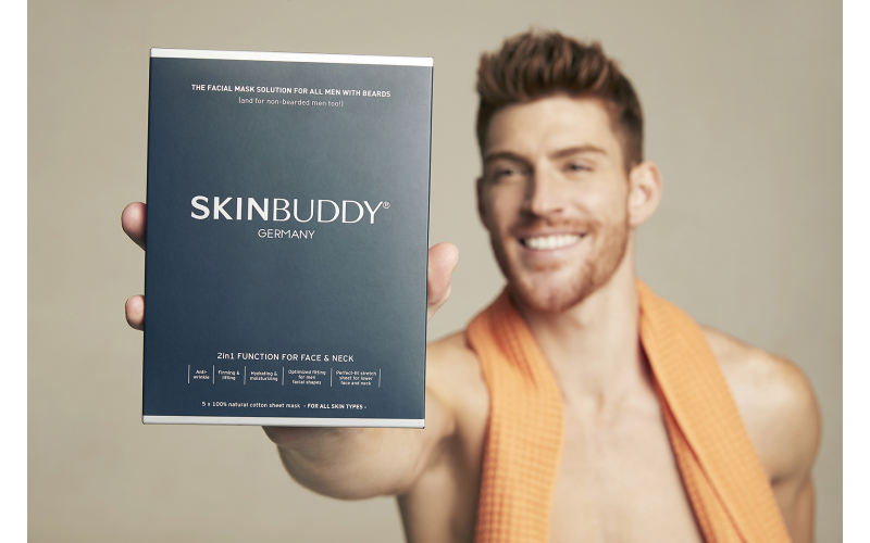 WIN SKINBUDDY - new sheet mask for bearded men (and they work for men without beards too!)