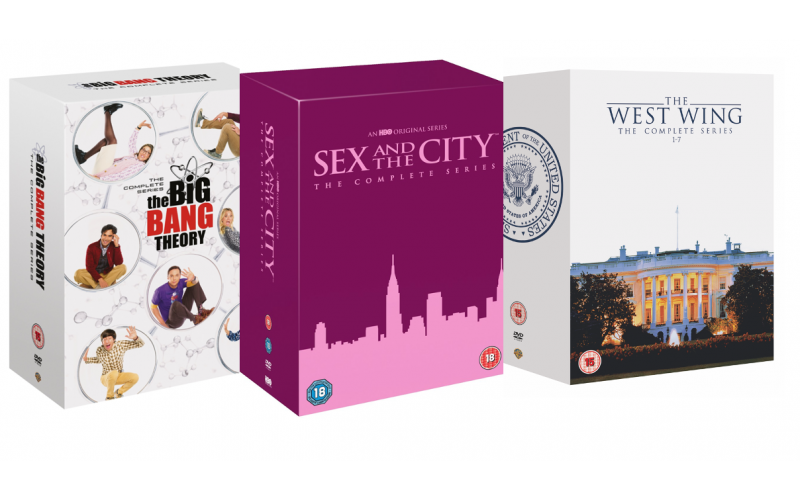Sex & The City: The Complete Series, Wizarding World: Ten Film Collection, The Big Bang Theory: The Complete Series, Friends: The Complete Series and The West W