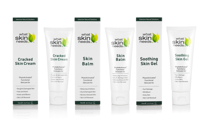 2 Sets of the What Skin Needs Skincare Range