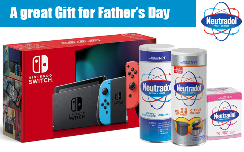 A Nintendo Switch Console and Neutradol Products