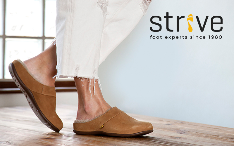 WIN LUXURY HEALTHY SLIPPERS FROM STRIVE FOOTWEAR