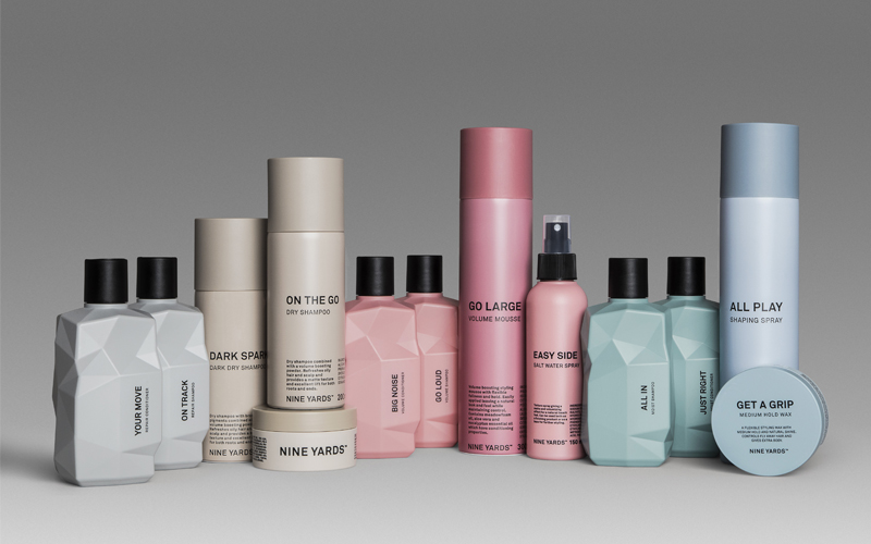 Nine Yards Shampoo, Conditioner, Styling Products & Tote Bag