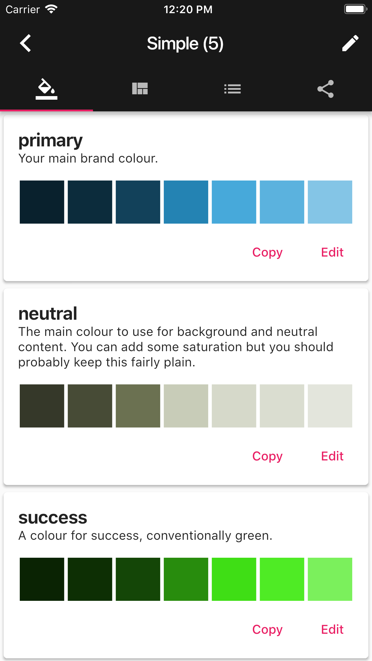 Modern Colour Picker Screenshot