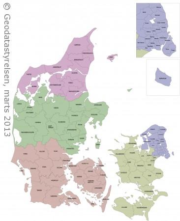 Kort Over Kommuner I Danmark   stoffeerderijrozendal