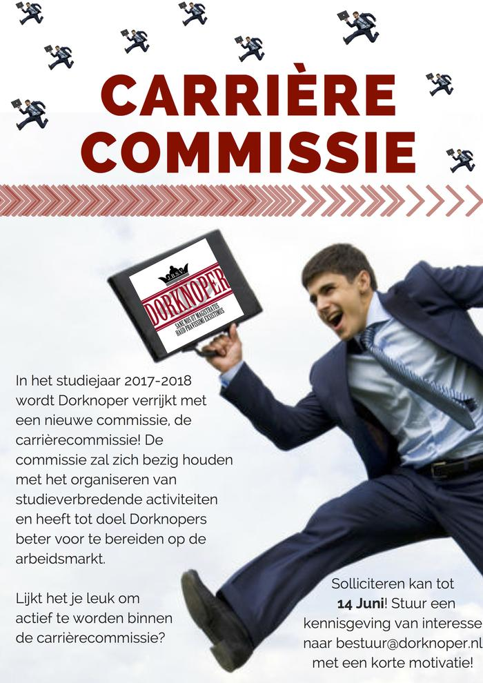 Dorknoper zoekt carrièrecommissie