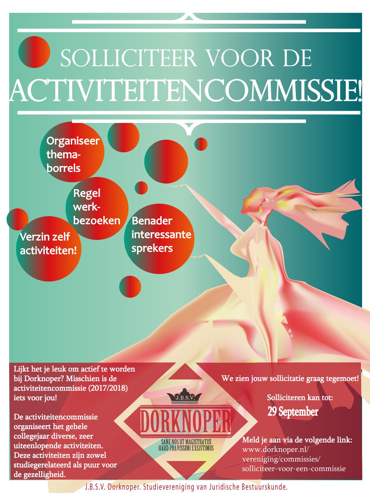 Dorknoper zoekt activiteitencommissie 2017/2018