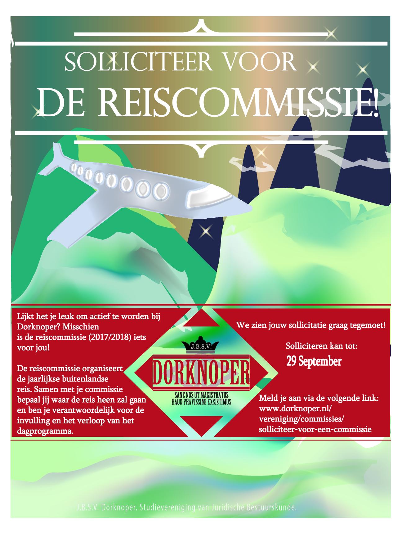 Dorknoper zoekt reiscommissie 2017/2018
