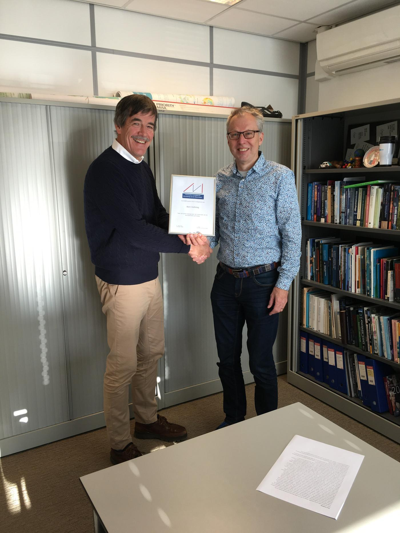 NVBM awards voor Wim van den Berg en Bert Holtslag