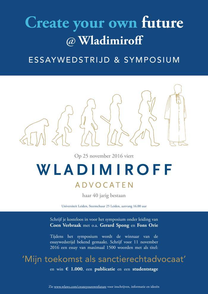 Essaywedstrijd en jubileumsymposium Wladimiroff Advocaten