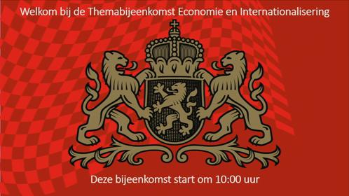 3 10:00 UUR - 11:30 UUR THEMA ECONOMIE EN INTERNATIONALISERING