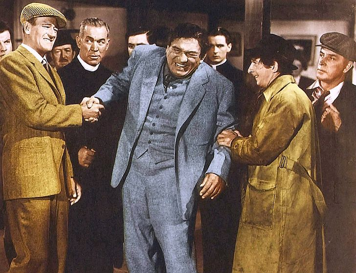 John Wayne, Victor McLaglen, Ward Bond in The Quiet Man