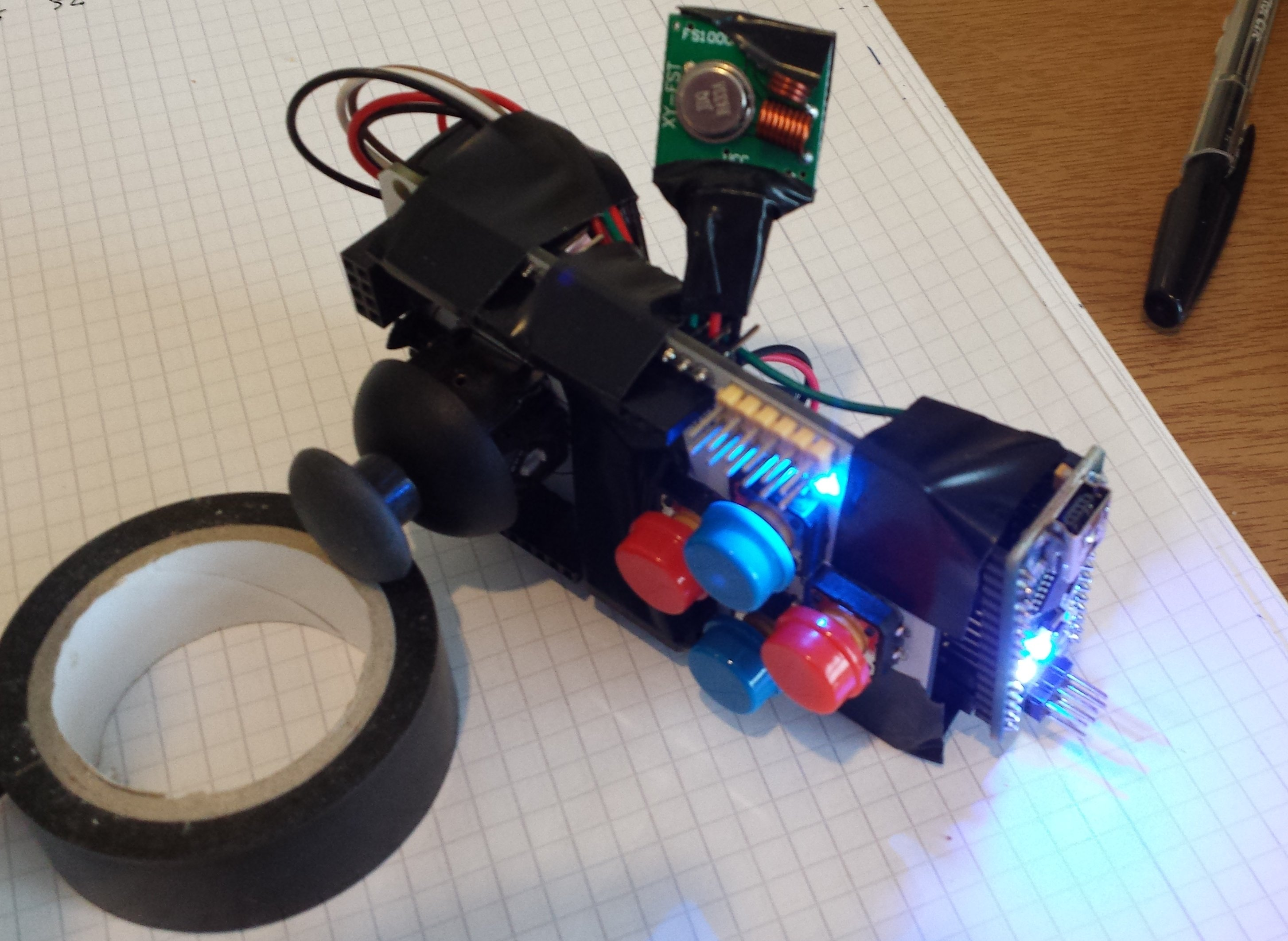 Remote Control Implementation For An Rc Car Part 1 Cross Dominant Controlled Toy Circuit With Transceiver Module Control2 We Are Now Successfully Receiving And Interpreting Those Messages On The