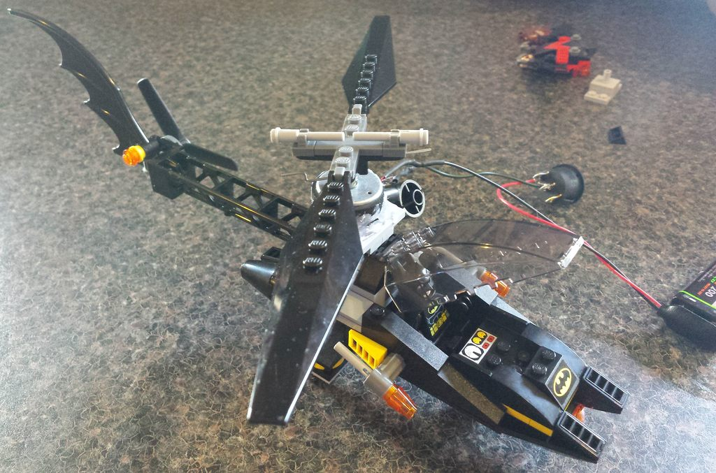 Hi Im Batman Check Out My Motorised Lego Helicopter Cross Dominant