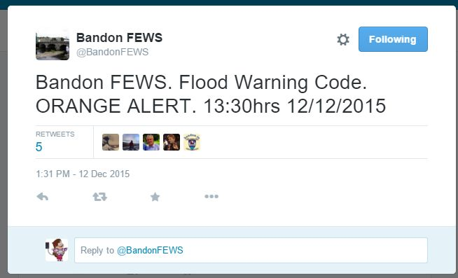 Bandon Flood Warning