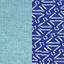 Bleu ciel / Motifs Bleu roi