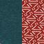 Bleu canard / Motifs Corail