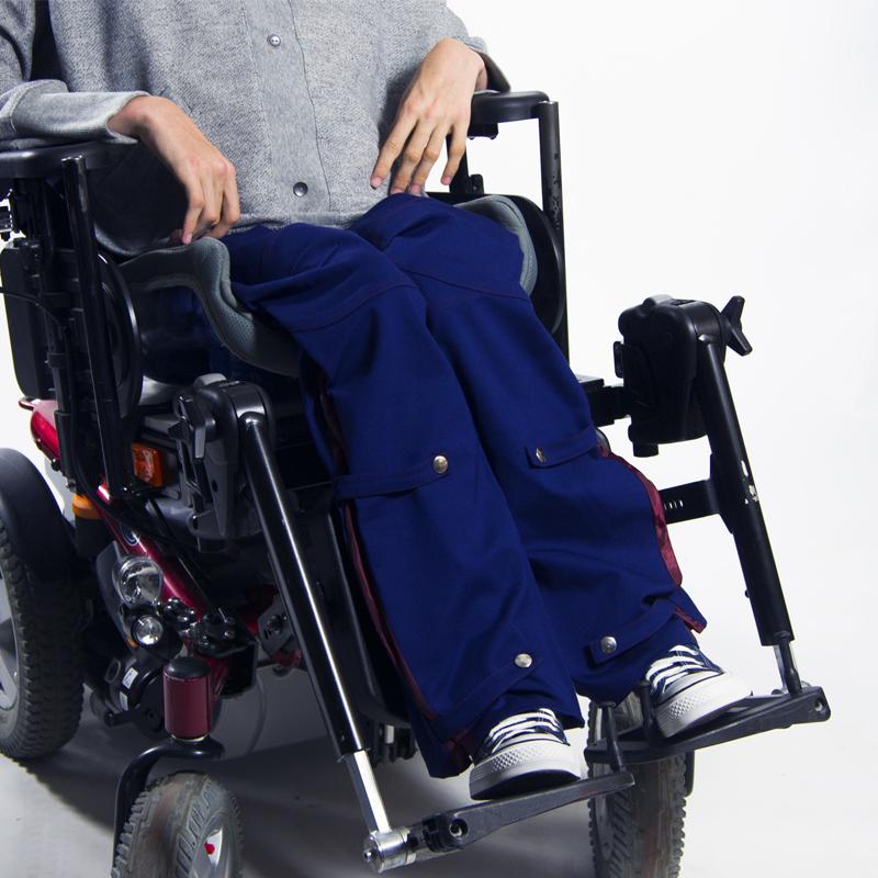 Pantalon raphae%cc%88l bleu fauteuil roulant vetement pratique handicap web