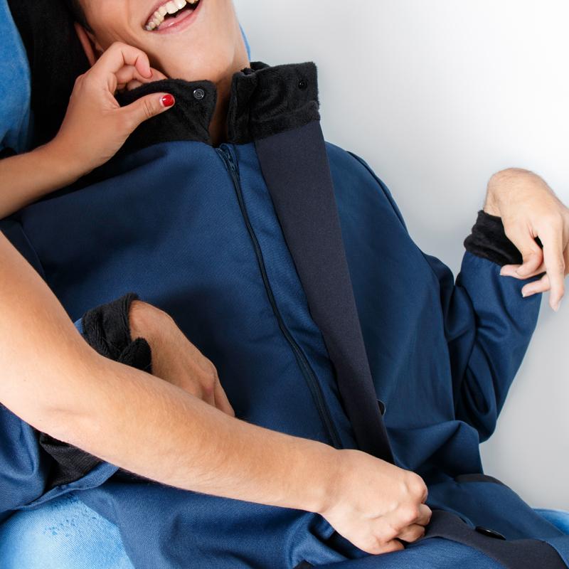 Focus 3 manteau alba marine noir fauteuil roulant albatros