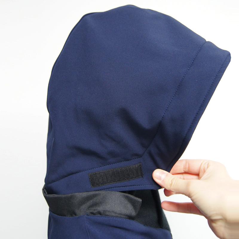 Poncho gabriel vetement imperme%cc%81able chaud hiver polaire capuche amovible cape adapte%cc%81e personnes handicape%cc%81es
