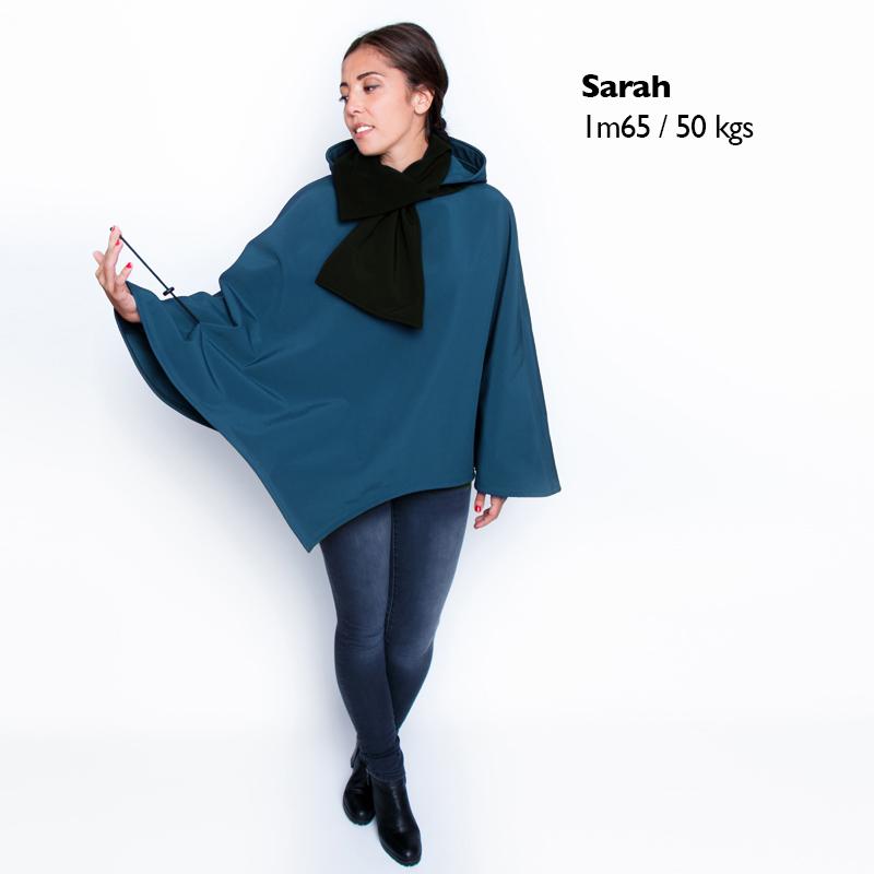 Poncho pascal bleu canard cape imperme%cc%81able enfilage pratique mode handicap