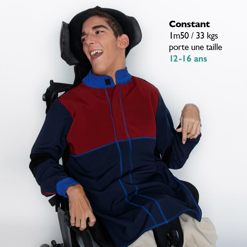 Manteau alix marine bordeaux ouverture dos fauteuil roulant handicap copie