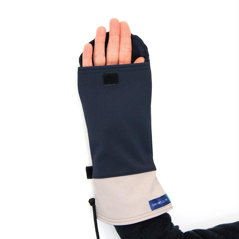 Moufles gael marine beige vetement gants adapte%cc%81s handicap