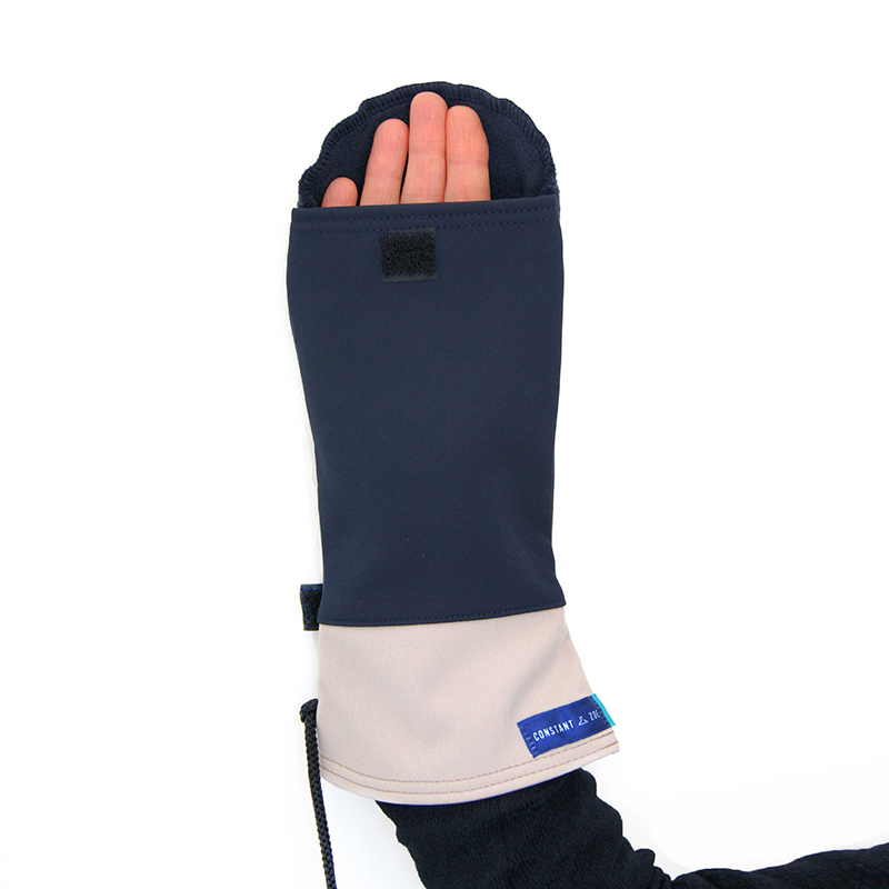 Moufles gael marine beige vetement gants adapte%cc%81s handicap1
