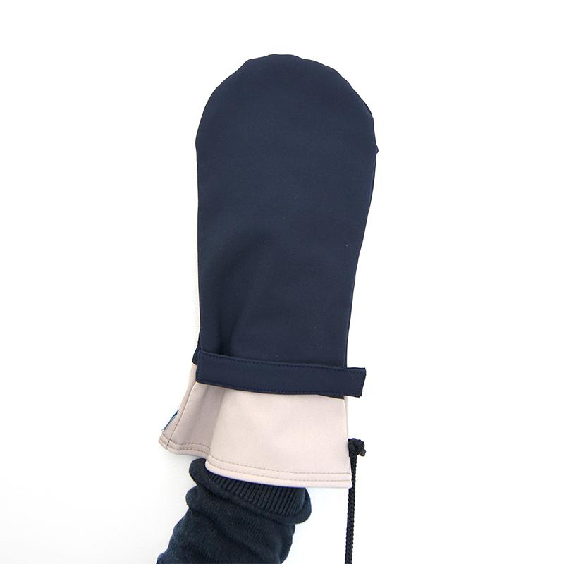 Moufles gael marine beige vetement gants adapte%cc%81s handicap2