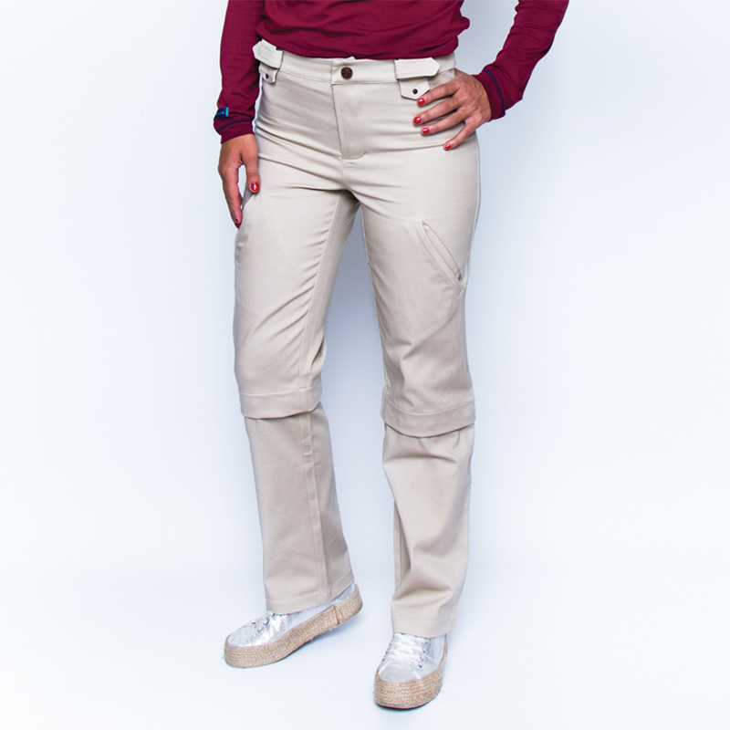 Bermulon alex beige zoom pantalon pratique handicap