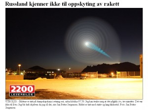 Mystery spiral over Norway. Image credit: Jan Petter