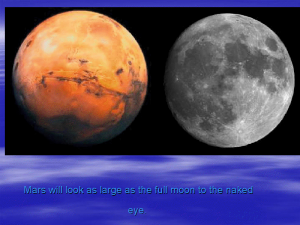 Will Mars look as big as the Moon?