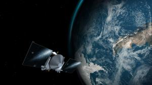 Artist's impression of OSIRIS-REx orbiting the Earth
