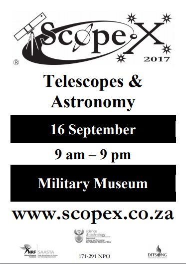 Poster for ScopeX Telescope and Astronomy expo