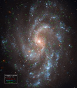 epheids in Spiral Galaxy NGC 5584. Source: Hubblesite.org