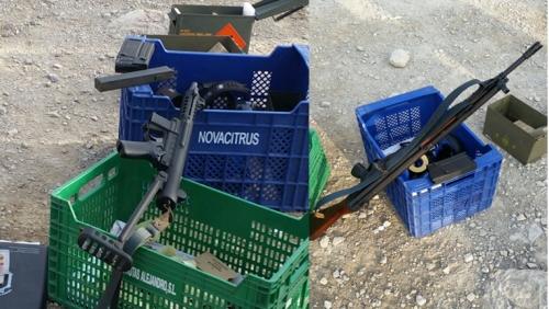 Armas usadas en ejercicio de tiro en Alicante