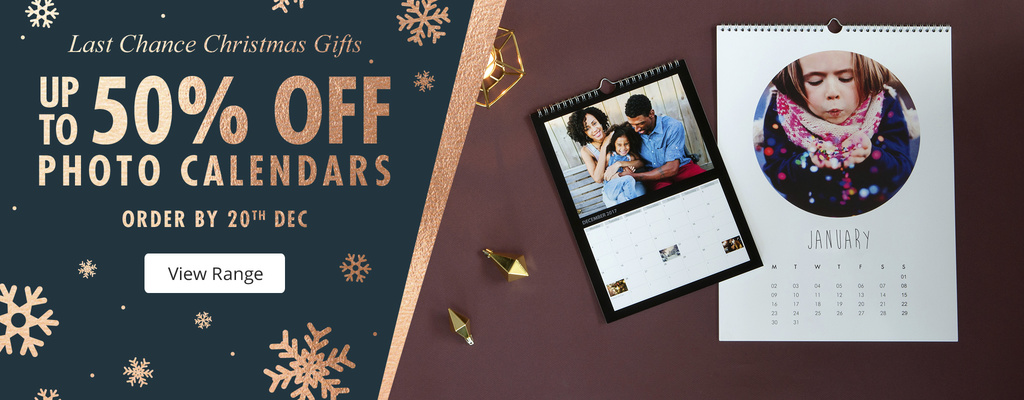 up to 50% off Photo Calendars