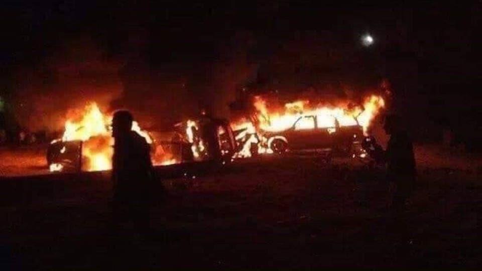 ضربات جوية استهدفت قافلة فصيل عراقي