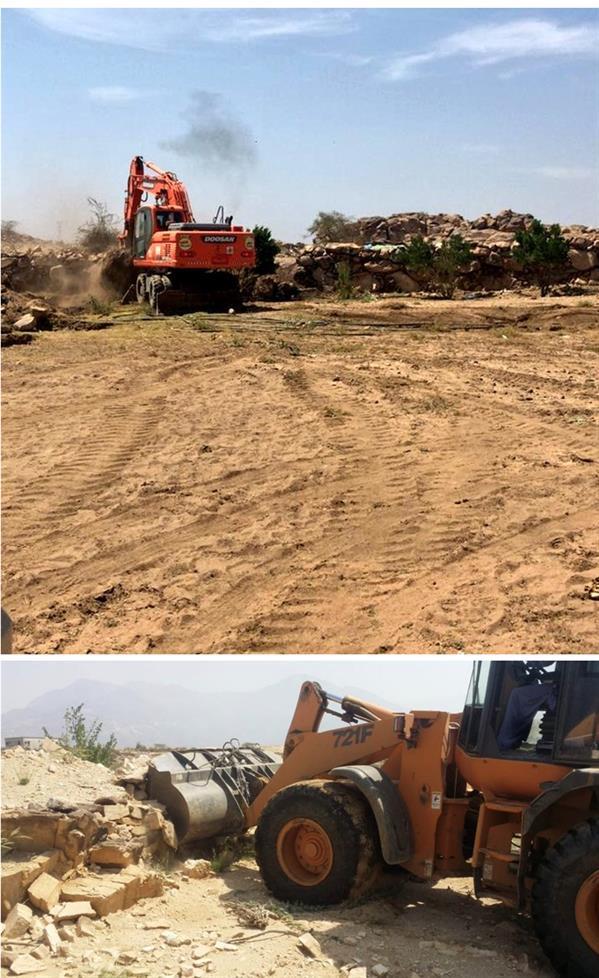 إزالة تعديات على أراضٍ حكومية
