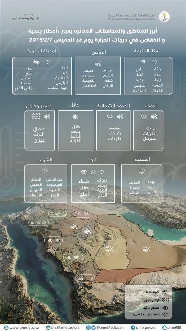 أخبار 24 توقعات بهطول البرد على المناطق الشمالية وسحب رعدية على مكة ومرتفعات عسير والباحة