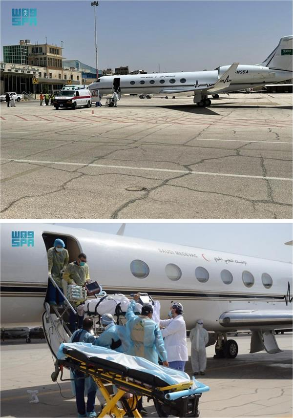 الإخلاء الطبي الجوي ينقل مواطناً مصاباً بفيروس كورونا من الأردن