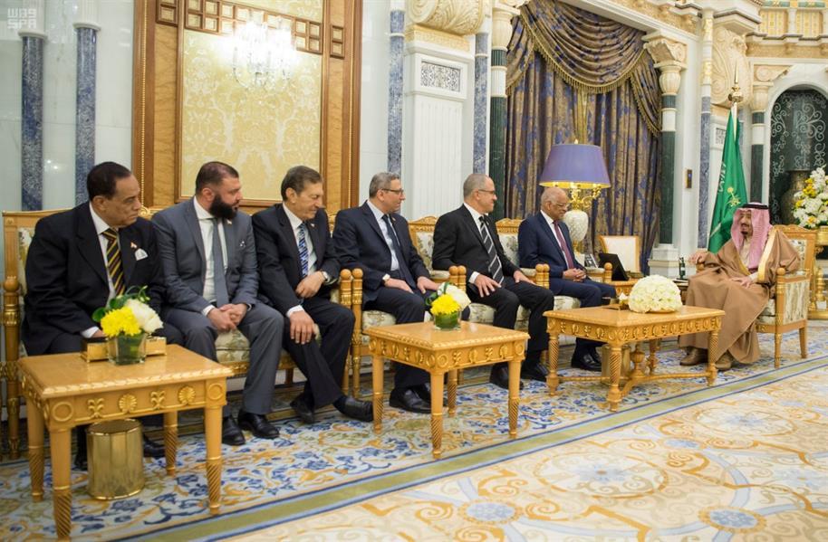 خادم الحرمين يستقبل رئيس مجلس النواب المصري