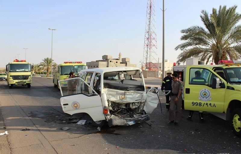 حادث مروري لحافلة نادي الوشم