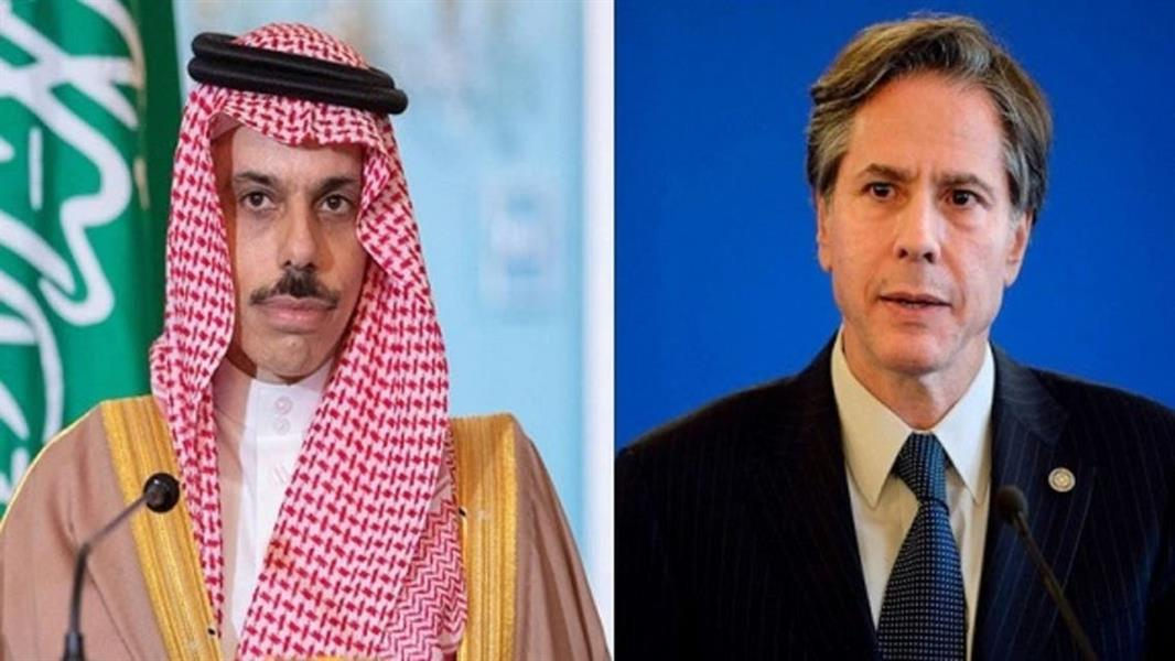 وزير الخارجية الأميركي ووزير الخارجية السعودي