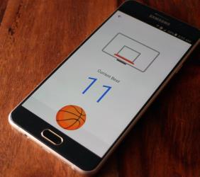 لعبة كرة السلة على تطبيق ماسنجر